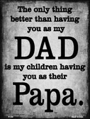 The Only Thing Better Dad Papa Wholesale Metal Novelty Parking Sign P-184