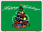 Happy Holidays Tree Wholesale Metal Novelty Parking Sign P-203