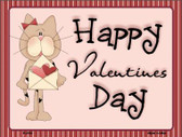 Valentines Kitty Wholesale Metal Novelty Parking Sign