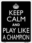 Play Like A Champion Wholesale Metal Novelty Parking Sign P-2147