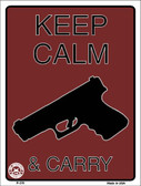 Keep Calm & Carry Wholesale Metal Novelty Parking Sign P-376