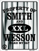 Smith and Wesson Wholesale Metal Novelty Parking Sign P-383