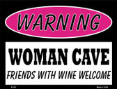 Friends With Wine Welcome Wholesale Metal Novelty Parking Sign P-751