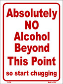 No Alcohol Beyond This Point Wholesale Metal Novelty Parking Sign P-876