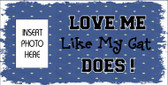 Cat Love Blue Photo Insert Pocket Wholesale Metal Novelty Small Sign