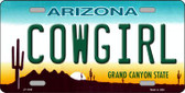 Cowgirl Novelty Wholesale Metal License Plate