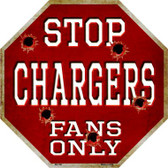 Chargers Fans Only Wholesale Metal Novelty Octagon Stop Sign BS-188