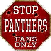 Panthers Fans Only Wholesale Metal Novelty Octagon Stop Sign BS-200