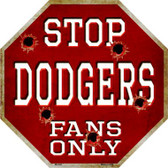 Dodgers Fans Only Wholesale Metal Novelty Octagon Stop Sign BS-222