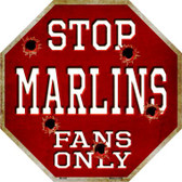Marlins Fans Only Wholesale Metal Novelty Octagon Stop Sign BS-226