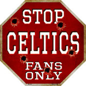 Celtics Fans Only Wholesale Metal Novelty Octagon Stop Sign BS-244