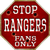 Rangers Fans Only Wholesale Metal Novelty Octagon Stop Sign BS-280