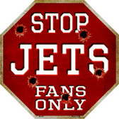 Jets Fans Only Wholesale Metal Novelty Octagon Stop Sign BS-287
