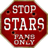 Stars Fans Only Wholesale Metal Novelty Octagon Stop Sign BS-293