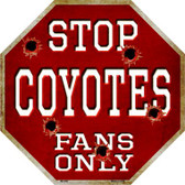Coyotes Fans Only Wholesale Metal Novelty Octagon Stop Sign BS-299