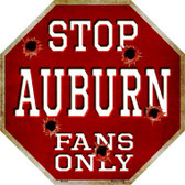 Auburn Fans Only Wholesale Metal Novelty Octagon Stop Sign BS-304