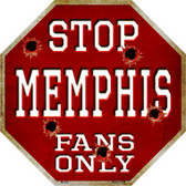 Memphis Fans Only Wholesale Metal Novelty Octagon Stop Sign BS-316