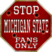 Michigan State Fans Only Wholesale Metal Novelty Octagon Stop Sign BS-318