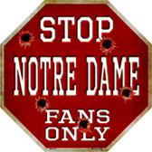 Notre Dame Fans Only Wholesale Metal Novelty Octagon Stop Sign BS-333