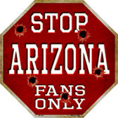Arizona Fans Only Wholesale Metal Novelty Octagon Stop Sign BS-336