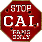 Cal Fans Only Wholesale Metal Novelty Octagon Stop Sign BS-347