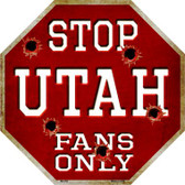 Utah Fans Only Wholesale Metal Novelty Octagon Stop Sign BS-352
