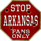 Arkansas Fans Only Wholesale Metal Novelty Octagon Stop Sign BS-353