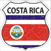 Costa Rica Country Flag Highway Shield Wholesale Metal Sign