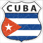 Cuba Country Flag Highway Shield Wholesale Metal Sign