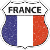 France Country Flag Highway Shield Wholesale Metal Sign