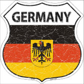Germany Country Flag Highway Shield Wholesale Metal Sign