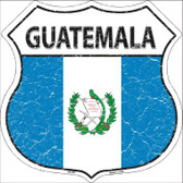 Guatemala Country Flag Highway Shield Wholesale Metal Sign
