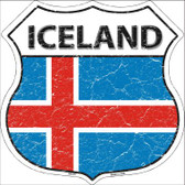 Iceland Country Flag Highway Shield Wholesale Metal Sign