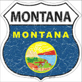 Montana State Flag Highway Shield Wholesale Metal Sign
