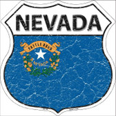 Nevada State Flag Highway Shield Wholesale Metal Sign