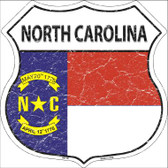 North Carolina State Flag Highway Shield Wholesale Metal Sign