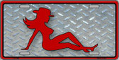 Cowgirl Mud Flap Novelty Wholesale Metal License Plate LP-1148