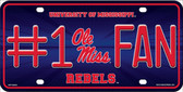 Ole Miss Fan Deluxe Wholesale Metal Novelty License Plate LP-5510