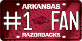 Arkansas Fan Deluxe Wholesale Metal Novelty License Plate