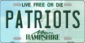 Patriots New Hampshire Wholesale Metal Novelty License Plate LP-5435