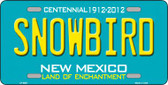 Snowbird New Mexico Novelty Wholesale Metal License Plate LP-6681