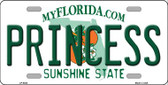 Princess Florida Novelty Wholesale Metal License Plate LP-6023