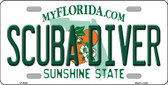 Scuba Diver Florida Novelty Wholesale Metal License Plate LP-6043
