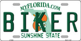 Biker Florida Novelty Wholesale Metal License Plate LP-6044