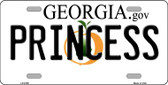 Princess Georgia Novelty Wholesale Metal License Plate