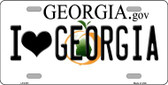 I Love Georgia Novelty Wholesale Metal License Plate