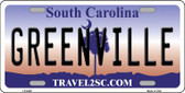 Greenville South Carolina Novelty Wholesale Metal License Plate LP-6300