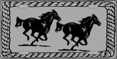 Two Running Horses Novelty Wholesale Metal License Plate