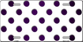 Purple White Dots Oil Rubbed Wholesale Metal Novelty License Plate