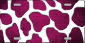 Pink White Giraffe Oil Rubbed Wholesale Metal Novelty License Plate